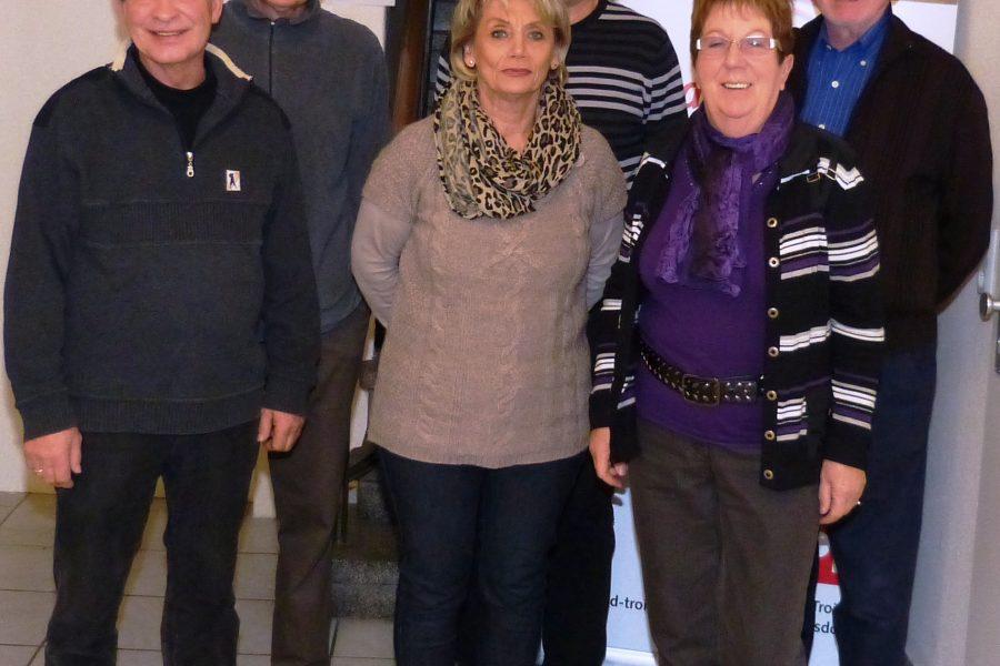 v. l. n. r.: Jürgen Katulski, Helmut Levenhagen, Heide Jaumann, Ulli Knab, Helga Krahl, Konrad Berger