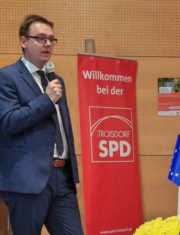 SPD Troisdorf Mitgliederversammlung Europa Denis Waldästl