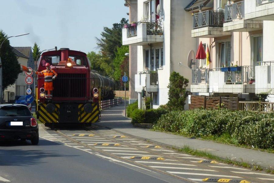 Gefahrengut RSVG Bahnstrecke Evonik SPD Troisdorf Niederkassel